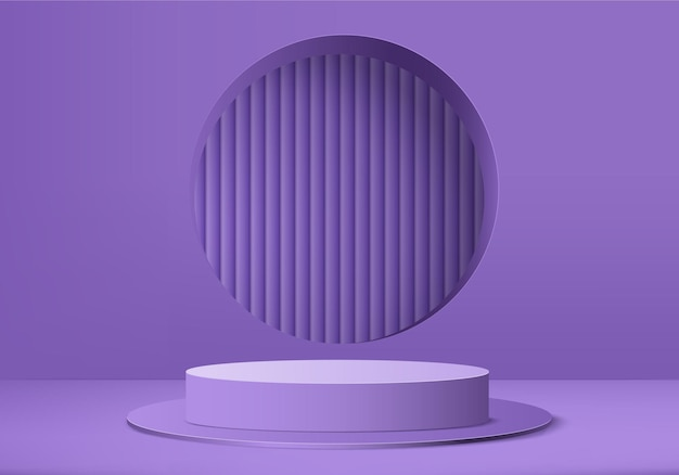 Scène minimale abstraite de produit d'affichage 3d avec plate-forme de podium géométrique.