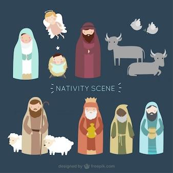Scène de la nativité au style belle