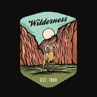 Scène de nature aventure montagne chèvre sauvage