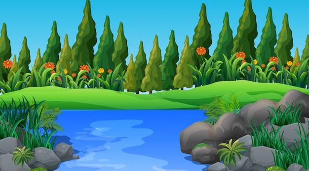 Scène de la nature de fond vide ou backgroundry