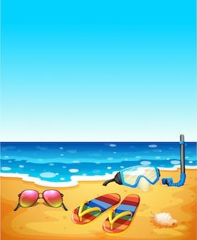 Scène nature avec plage et mer