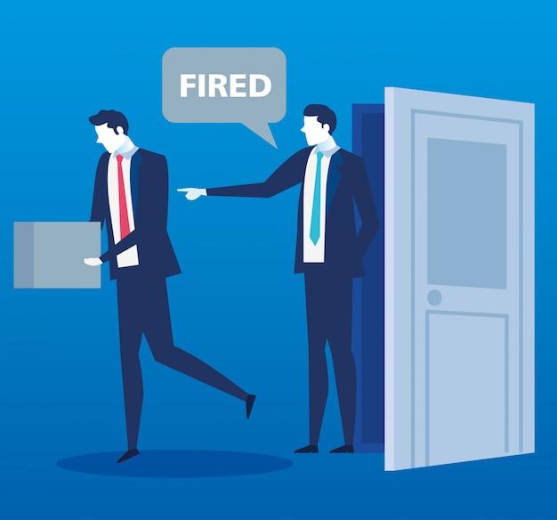 Scène de patron disant que vous êtes un employé congédié