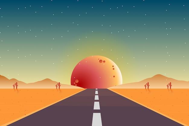 Scène de paysage désertique