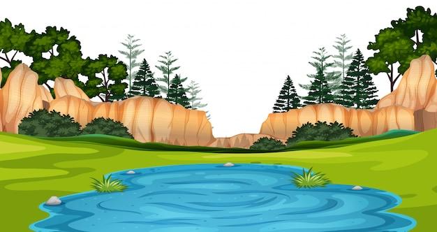 Scène de paysage naturel