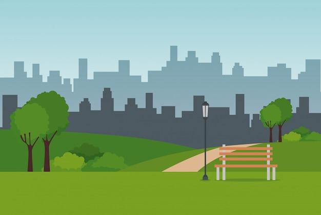 Scène de paysage de parc