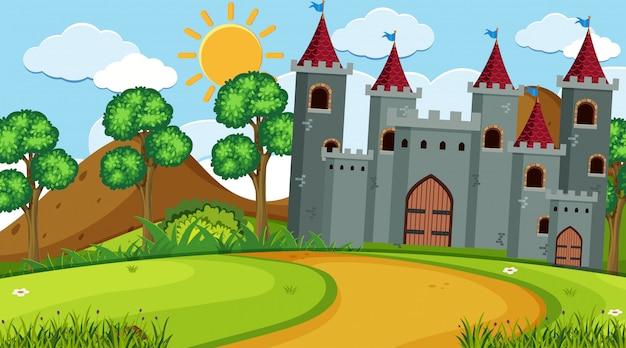 Une scène en plein air avec château