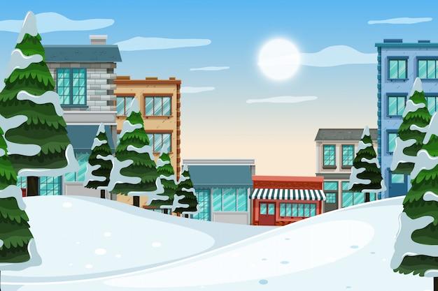 Une scène en plein air avec un magasin