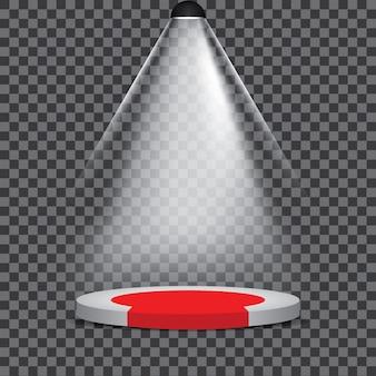 Scène podium illuminée fête spotlight