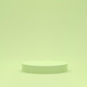 Scène de podium vert fond minimal