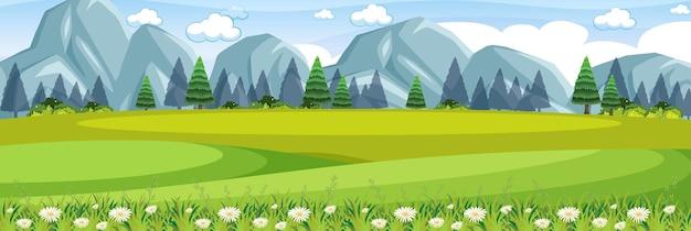 Scène de prairie en plein air nature