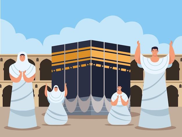 Scène de prières hajj mabrur
