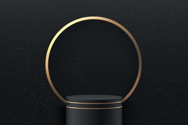 Scène ronde abstraite pour les récompenses dans le moderne.
