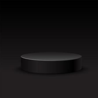 Scène ronde sur fond noir