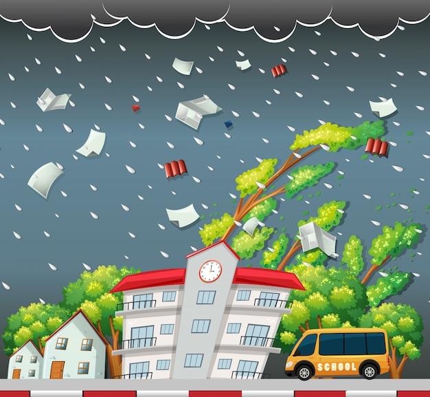 Scène de rue big storm