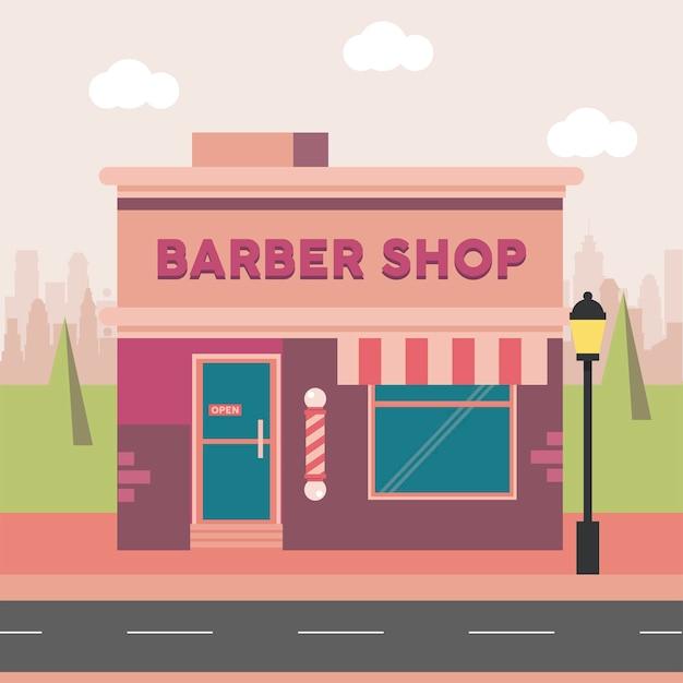 Scène de salon de coiffure