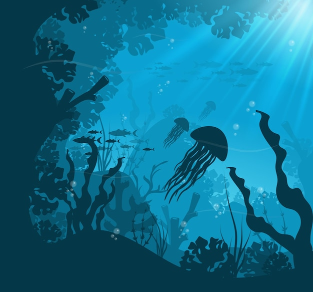 Scène sous-marine de l'océan