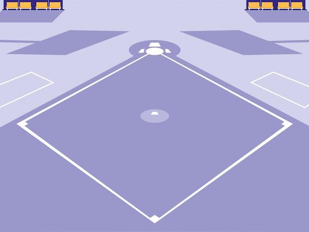 Scène de stade de sport de baseball