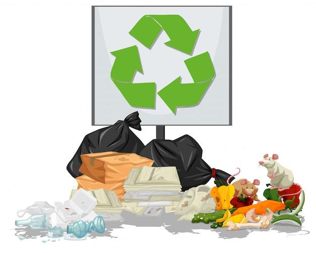 Scène de tas d'ordures