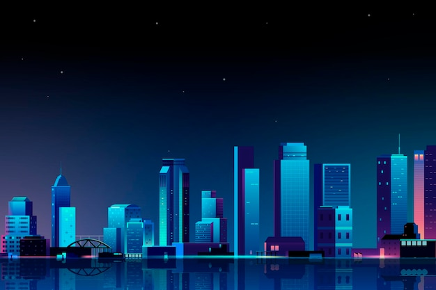 Scène urbaine la nuit