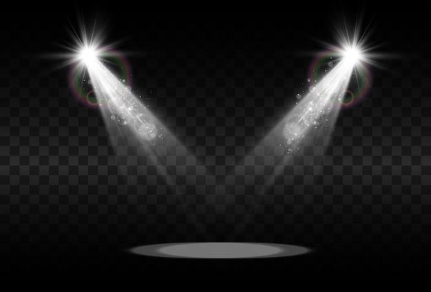Scène vide avec des projecteurs.