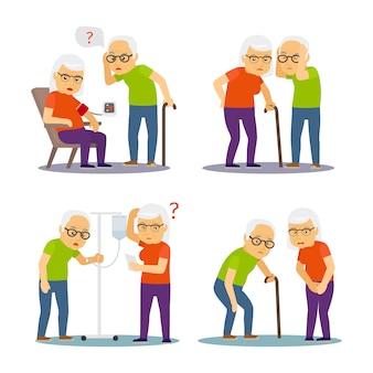 Scène de vieil homme et femme