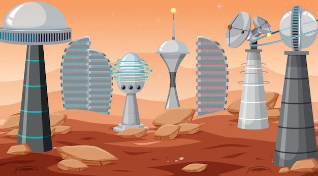 Scène de la ville dans l'espace
