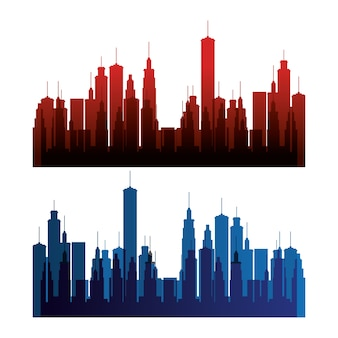 Scène de la ville de new york