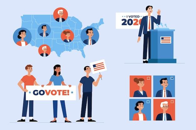 Scènes de campagne électorale