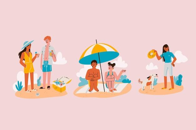Scènes d'été de dessin animé