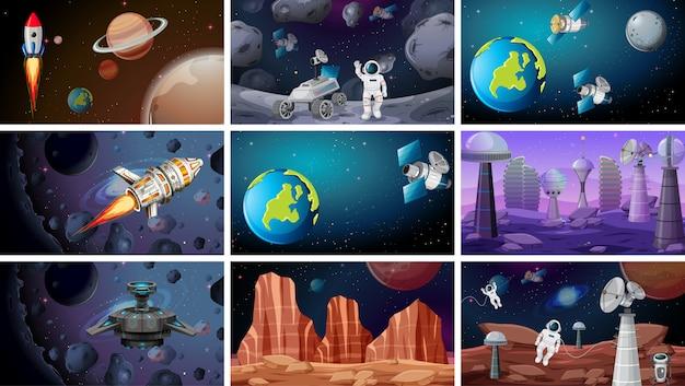 Scènes de fond de l'espace