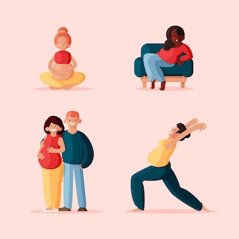 Scènes de grossesse et maternité