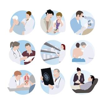 Scènes médicales.