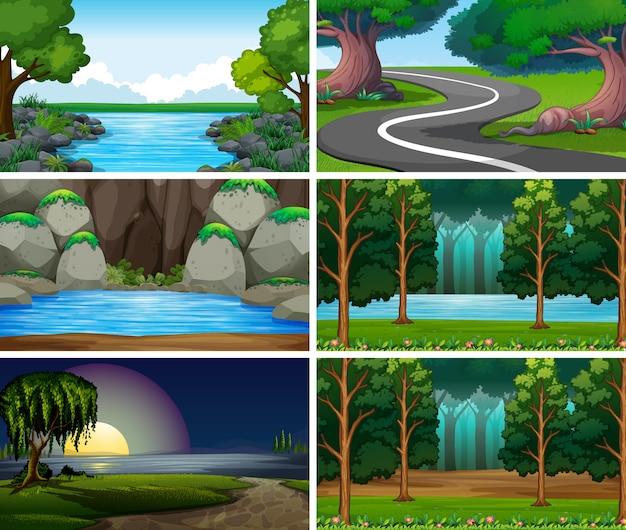 Scènes de nature de paysage vide, vide