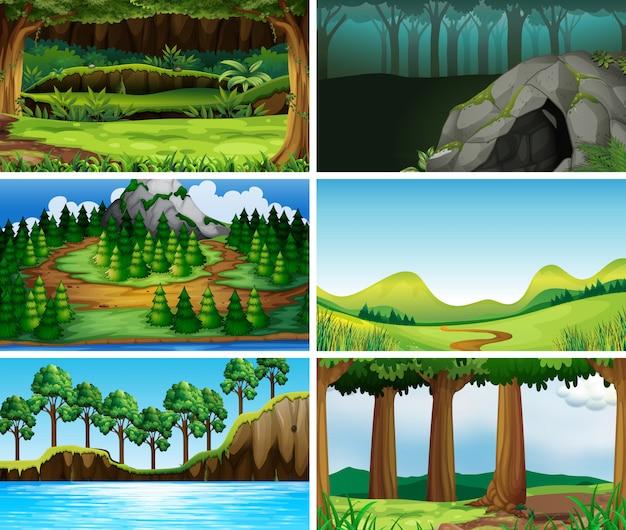 Scènes de nature paysage vide et vide