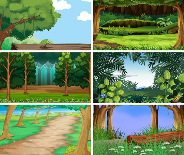 Scènes de nature de paysage vides et vierges