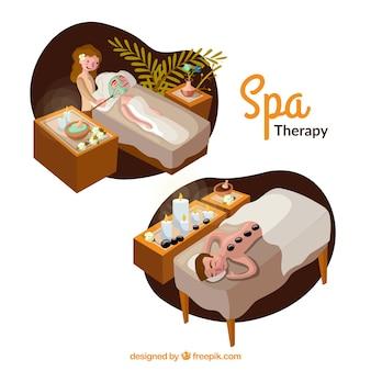 Scènes de thérapie de spa