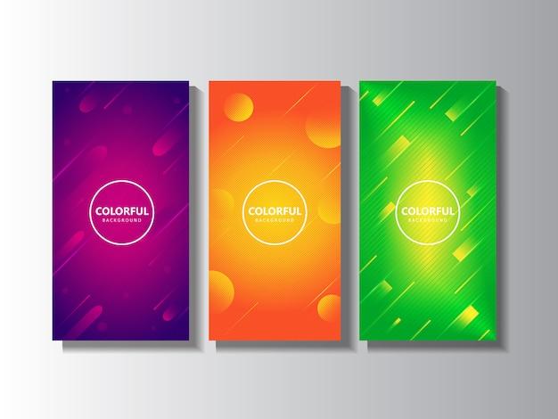 Scénographie de fond vertical coloré moderne