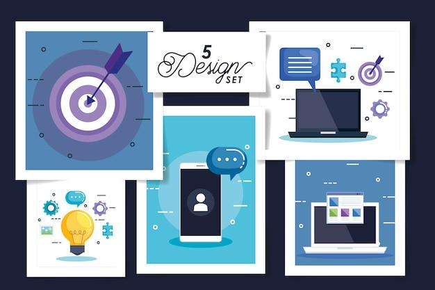 Scénographie des icônes de l'entreprise