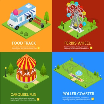 Scénographie de parc d'attractions.