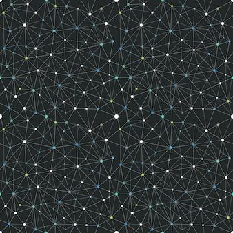 Schéma abstrait de connexion web. fond vectorielle continue