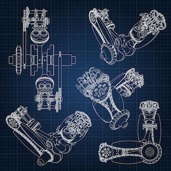 Schéma de bras de mécanicien