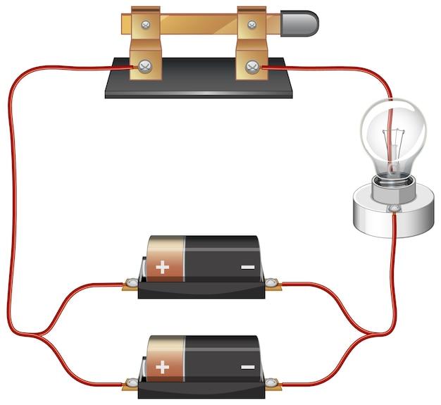 Schéma électrique avec batterie et ampoule
