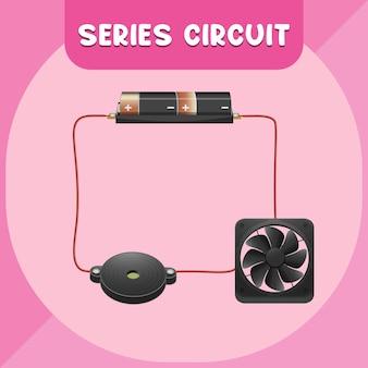 Schéma infographique du circuit en série