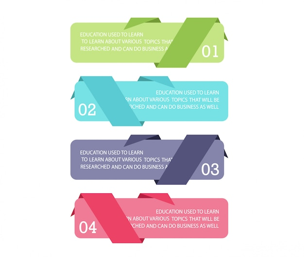 Schéma pour l'éducation et les affaires utilisé dans l'enseignement avec trois options