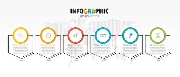 Schéma pour l'enseignement et les affaires utilisé dans l'enseignement avec six options