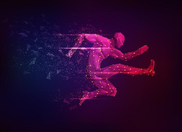 Sci-fi de saut d'obstacles