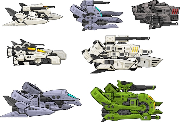 Sci-fi space shooter navires