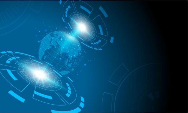 Sci fi tech cyber design futuriste concept de fond