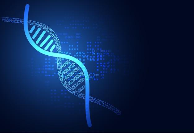 La science médicale de la santé abstraite consiste en adn
