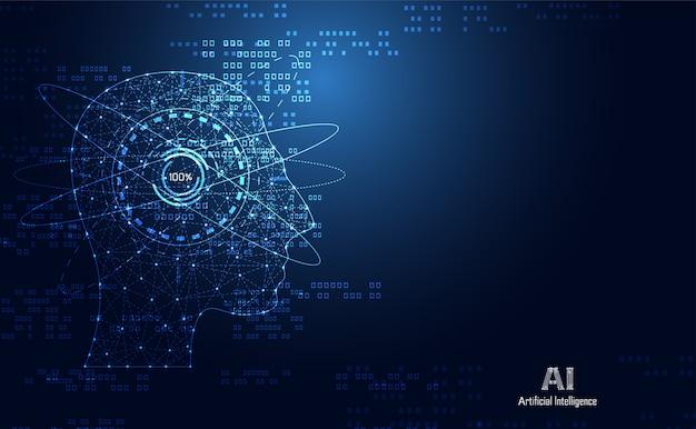 La science médicale de santé abstraite consiste en tête numérique humain